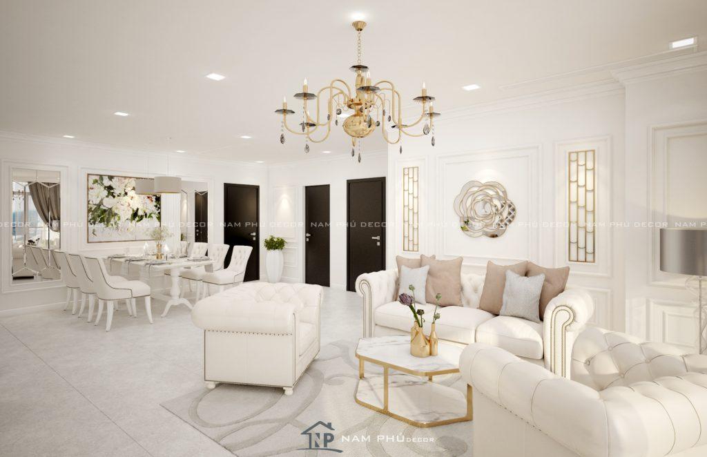 Thiết kế nội thất phong cách cổ điển – bán cổ điển