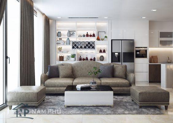 Mẫu thiết kế nội thất căn hộ Richstar
